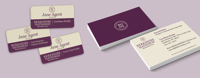 Name Badge & Business Cards